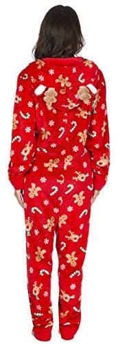 gute Textur akribische Färbeprozesse günstig Frauen Damen Weihnachten Xmas Onesie Jumpsuit Strampelanzuge ...