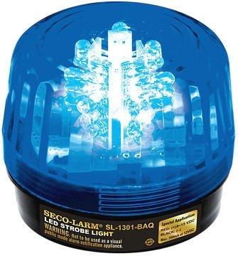 Seco-Larm Enforcer LED Strobe Light, Blue Lens (SL-1301-BAQ/B)