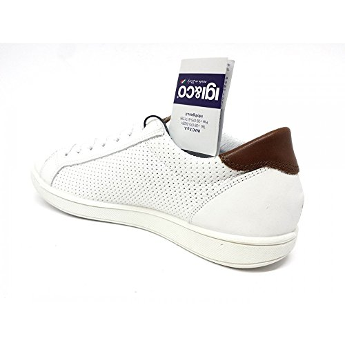 IGI Bianco amp;CO Bianco Scarpe Sneakers Uomo 1124033 Vera Igico Pelle qWOrx6qwU7