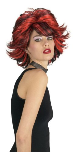 Choppy Wig (Red Black)