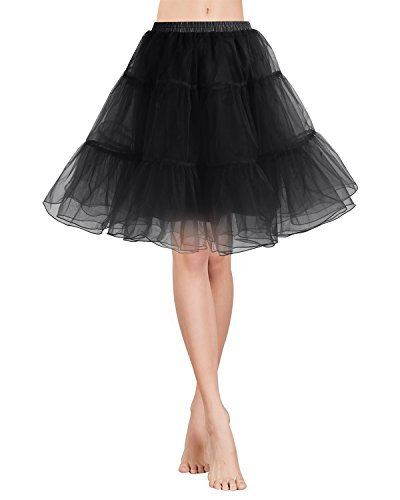Gardenwed Womens 50s Petticoat Skirts Vintage Rockabilly Tutu Crinoline Underskirt for Women