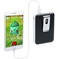 CTA Digital Hardside Luggage Style Travel Clip-On 8800 mAh External Battery Pack for Pokémon Go