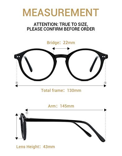 f5dafc7184dd TIJN Vintage Women Thick Round Rim Non-prescription Glasses Eyeglasses  Clear Lens