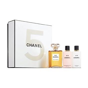 5b997a920cb Amazon.com   Chanel No. 5 Limited Edition Trio Set  3.4 Oz Eau de Parfum  Spray + 3.4 Oz Body Lotion + 3.4 Oz Bath Gel   Fragrance Sets   Beauty