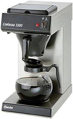 Bartscher Contessa 1000 Independiente - Cafetera (Independiente, Cafetera de filtro, 1,8 L, Granos de café, 2000 W, Negro, Acero inoxidable): Amazon.es: Industria, empresas y ciencia