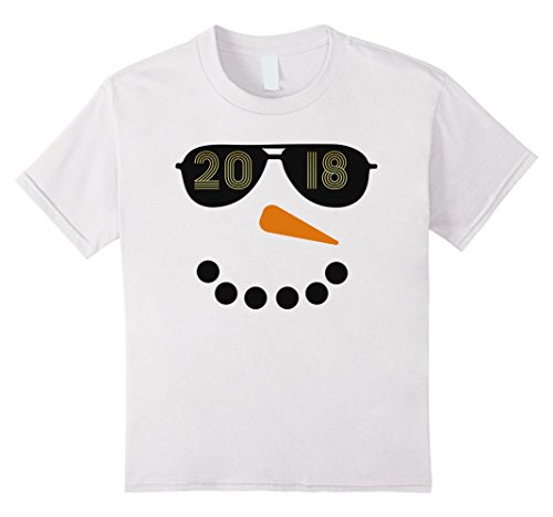Kids 2018 Snowman Sunglasses New Year's Eve Party Shirt 6 - Sunglasses Year's New