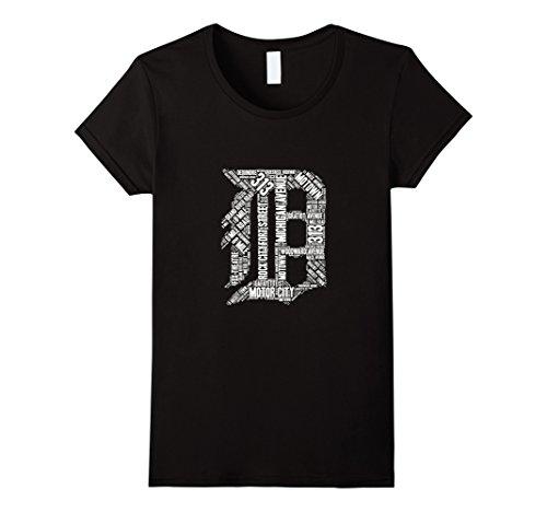 Womens Detroit T Shirt Graphic D Medium Black - Detroit Black T-shirt