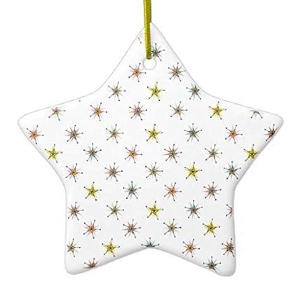 Amazon.com: Catio Pinwheels Novelty Christmas Ornaments Star Ceramic ...