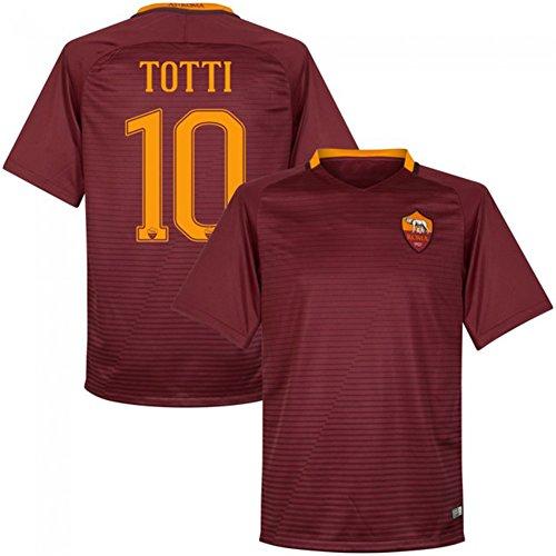 5b08ce203 ... 2016 2017 AS Roma Trikot 10 Francesco Totti Home Football Soccer Jersey  Kit In Red Roma 201718 Home Men ...