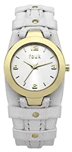 FCUK Women's FC1105WG Casual Cuff White Gold Watch