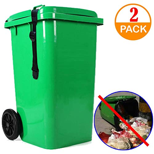 Animal Proof Garbage Bin Lid Strap with Lock
