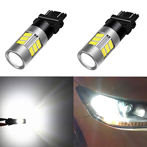 Wagon Focus Ford Dimensions (Alla Lighting 54-SMD 3156 3157 LED Turn Signal Light Bulbs High Power 4014 48-SMD LED 3157 Bulb 6000K Xenon White 3156 3157 LED Bulb Super Bright LED 4157 3457 3157 Blinker Light(Set of 2))
