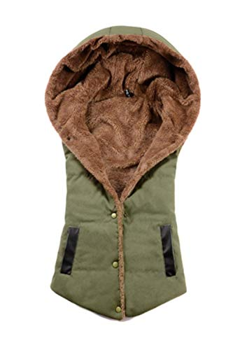 Verde Incappucciato Giacca Eleganti Calda Corto Donna Fashion Estilo Outwear Gilet Slim Smanicato Autunno Fit Especial Casuali Invernali Cappotto fb67gy