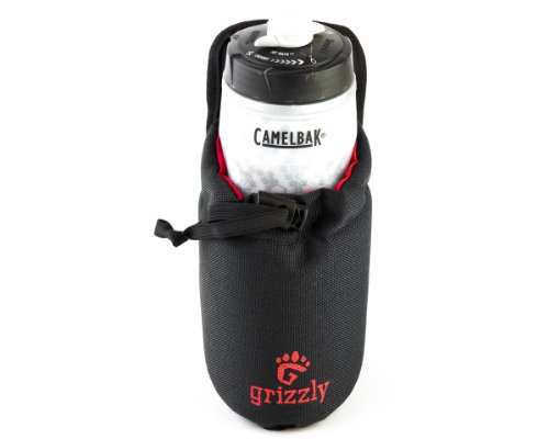 Grizzly Snake River Ghost Hunting Adjustable Water Bottle Holder (Black) or Use for Other Accessories, Equipment, Tools and Meters for Attaching to Belts or Grizzly Dakota Utility Belt