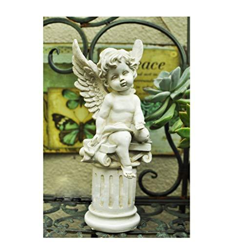 Cupid Ornament - Cupid Angel Gardening Decoration, Yard Lawn Ornaments, Outdoor Art Decorations,Yard Ornament -10.2in (Color : 2)