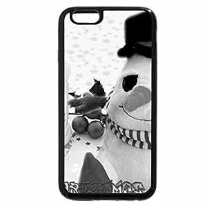 iPhone 6S Plus Case, iPhone 6 Plus Case (Black & White) - Snowlicious Christmas