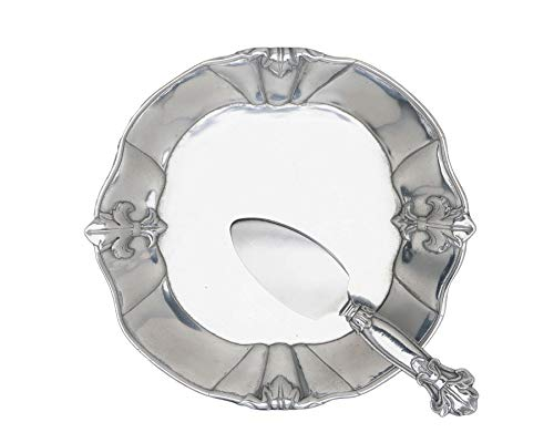 (Arthur Court Fleur-De-Lis 8-Inch Plate with Server)
