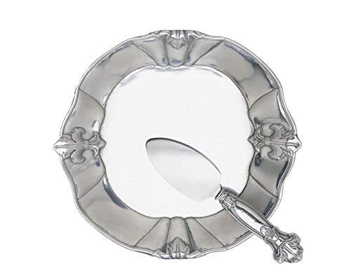 Arthur Court Fleur-De-Lis 8-Inch Plate with Server