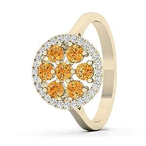 Deoro 18k Cocktail Diamond Ring