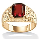 Men's Simulated Ruby Ring Size: 8