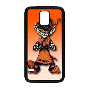 Samsung Galaxy s5 Black Cell Phone Case Cleveland Browns NFL Phone Case Cover Customized Plastic NLYSJHA0192
