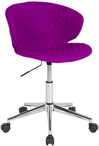 Flash Furniture Cambridge Home and Office Upholstered Mid-Back Chair in Purple Fabric