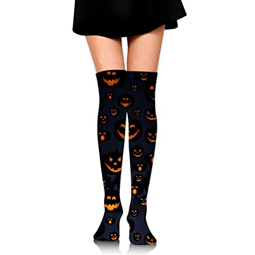 OFFWAYA Womens Halloween Pumpkin Skull Casual Crew Socks Casual Holiday Socks Colorful Pattern Dress Socks - Novelty Gift for Christmas X-mas New Year