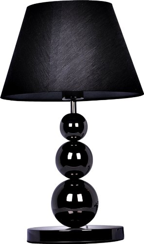 - Elegant Designs LT1022-BLK Pearl Black Metal Three Tier Ball Lamp