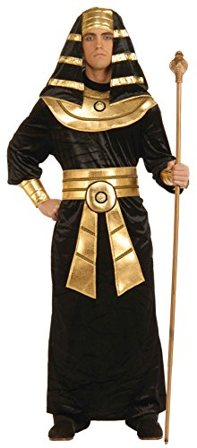 Gold Costume Men (Forum Novelties Men's Pharaoh Costume, Black/Gold, Large)