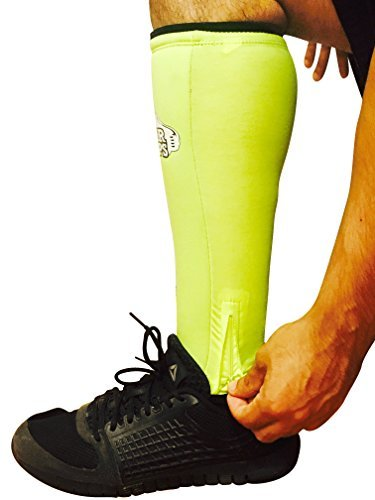 Obstacle Course Races Plyo Box Jumps Rope Climbs Mountain Biking Trail Running Bear Grips 5 mm SHIN GUARD SLEEVES for Dead Lifts,Olympic Lifts Weight Lifting