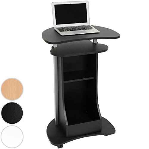 Miadomodo Computerschreibtisch Computertisch Arbeitstisch Laptoptisch für das Home Office in drei verschiedene Farben (Schwarz)