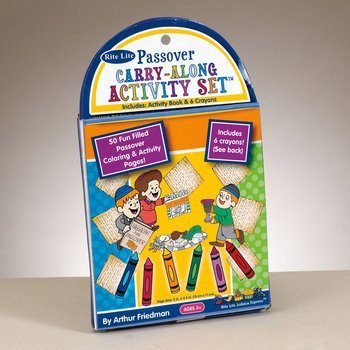 Rite Lite TYKP-COLR-SET Passover Carry-Along Activity Set - Pack Of 12
