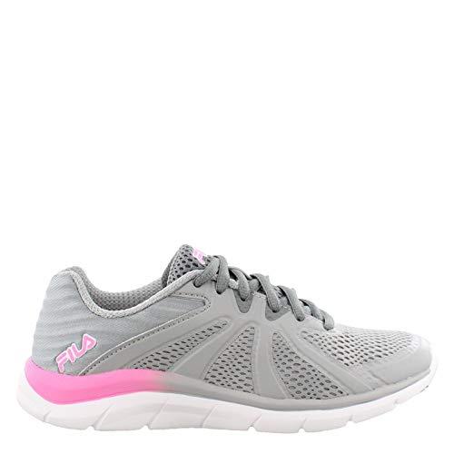 - Fila Women's, Memory Fraction 3 Running Sneakers (8.5) Grey/Pink