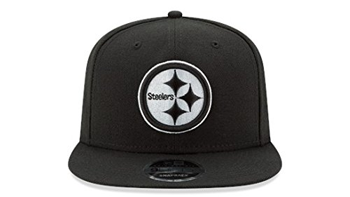 New Era Pittsburgh Steelers 9Fifty Black & White Logo Adjustable Snapback Hat NFL