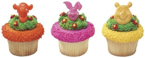 24 ct - Winnie the Pooh, Tigger and Piglet Cupcake - Cake Birthday Pooh Bear