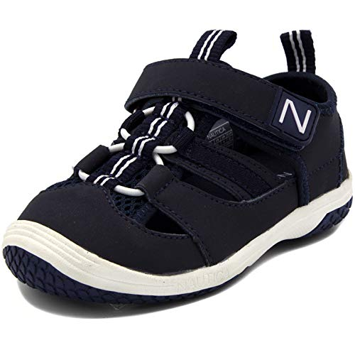 Baby Shoes Phat Infant - Nautica Kids Winisk Closed-Toe Outdoor Sport Casual Sandals Breathable Mesh Water Athletic Shoes-Winisk Toddler-Navy-12