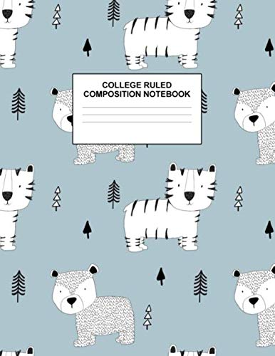 College Ruled Composition Notebook: Cute Blank Lined Journal to Write In with White Paper Rule Pages for School Subject and Writing Pad : Design Code A4 5620
