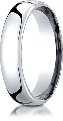 Benchmark 10K White Gold 5.5mm European Comfort-Fit Wedding Band Ring, Size 7 ()