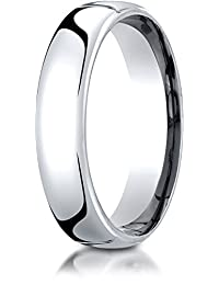 Benchmark 10K White Gold 5.5mm European Comfort-Fit Wedding Band Ring (Sizes 4 - 14 )