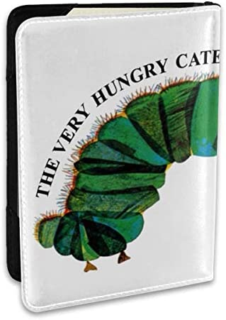 The Very Hungry Caterpillar はらぺこあおむし 絵本 パスポートケース パスポートカバー メンズ レディース パスポートバッグ ポーチ 収納カバー PUレザー 多機能収納ポケット 収納抜群 携帯便利 海外旅行 出張 クレジットカード 大容量