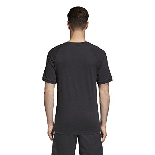 adidas Originals Men's Originals 3 Stripes Tee, Black, XL