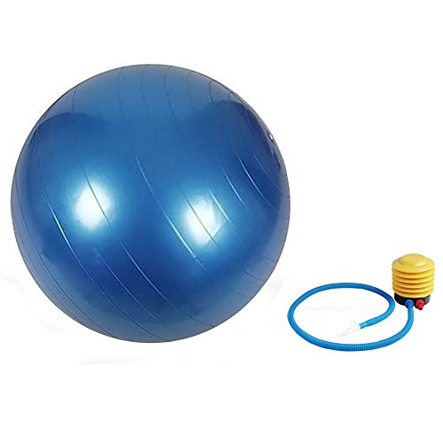 Exercise Stability Ball – Best Core Exercises For Great Fitness – Tone Muscles Using Balanced Workout Routines – Inflatable Anti-Burst Yoga & Pilates Ball With Free Foot Pump – Free Fitness Home Workout e-Book – Lifetime Replacement Guarantee by CladdaghLife