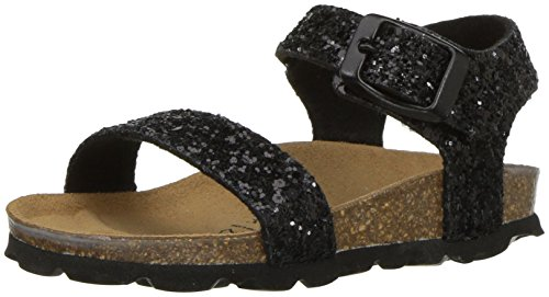 Price comparison product image Bayton Girls' Psyche Sandal,  Black Glitter,  33 Medium EU Little Kid (2 US)