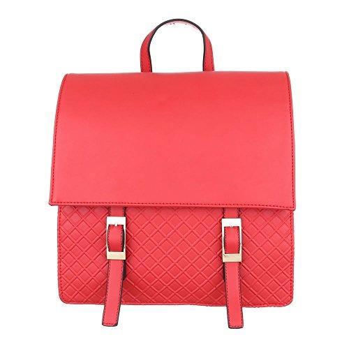 iTaL-dEsiGn - Bolso mochila  de Material Sintético para mujer Rojo