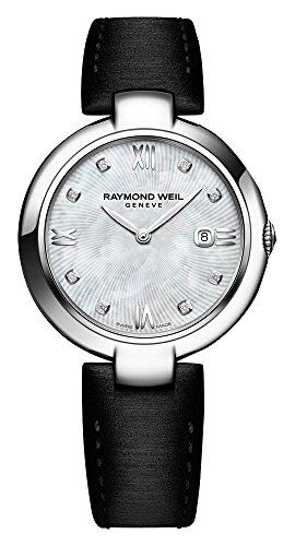 Raymond Weil Women's Shine Quartz Watch with Stainless-Steel Strap, Silver, 15.5 (Model: ()