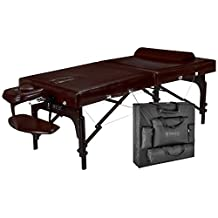 """Master Massage 31"""" Supreme Lx Portable Massage Table Package-brown Luster, Memory Foam"""