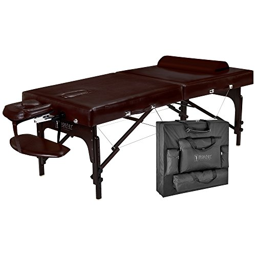 Master Massage 31'' Supreme Lx Portable Massage Table Package-brown Luster, Memory Foam by Master Massage
