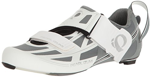 Pearl Izumi Women's W Tri Fly Elite V6 Cycling Shoe, White/Silver, 42.5 EU/10.4 B US