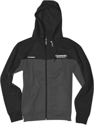 Factory Effex Kawasaki Tracker Zip Hoody Jacket (Black/Grey, ()