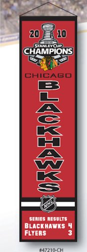Chicago Blackhawks 2010 Stanley Cup Champions Commemorative Heritage Banner